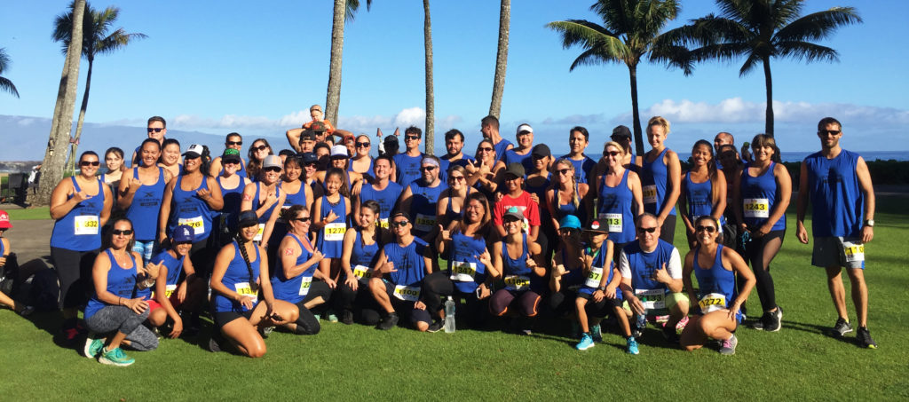 Group of people for the Kapalua trail run
